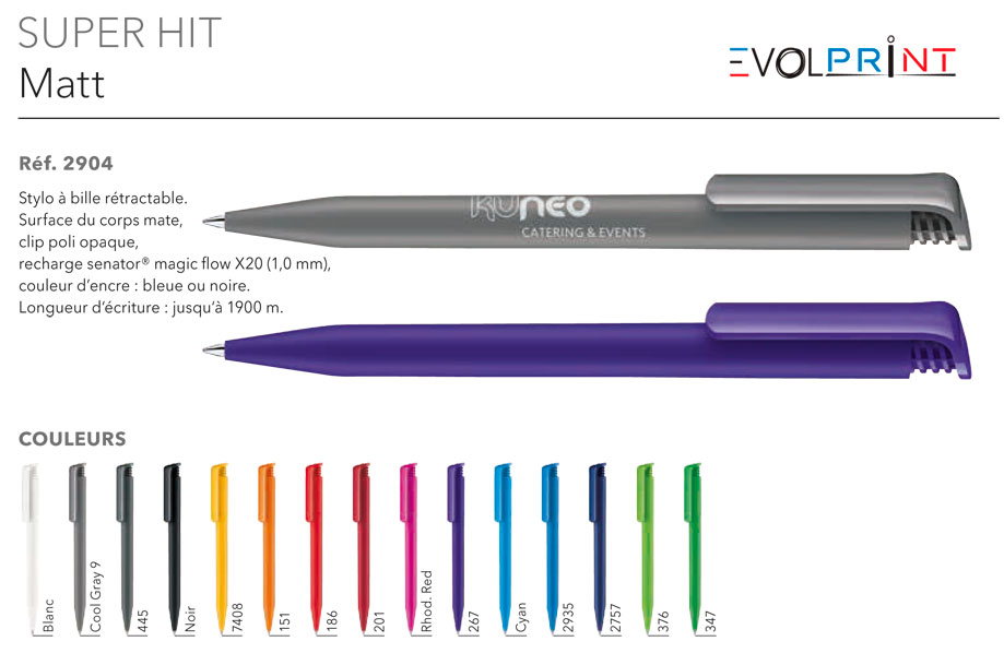 stylos d'entreprise impression france