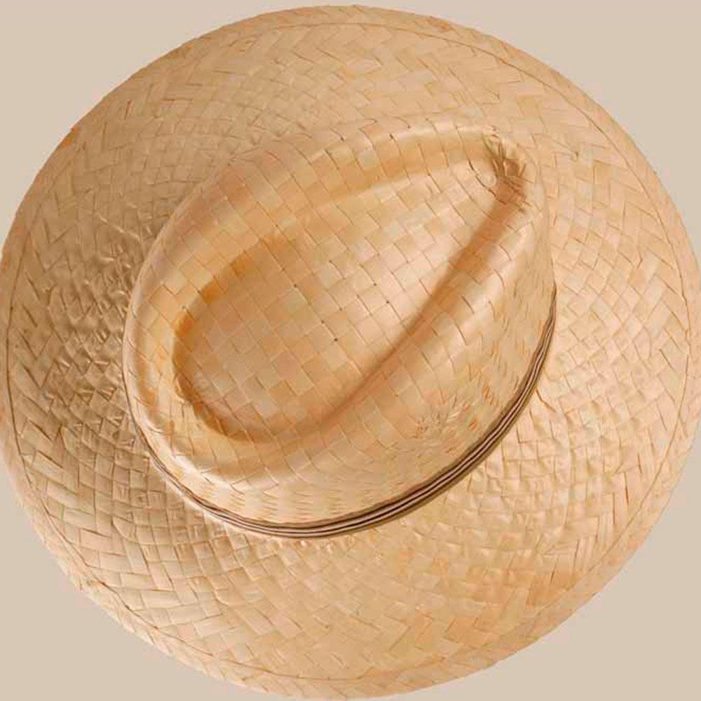 Chapeau en paille 100% naturelle impression