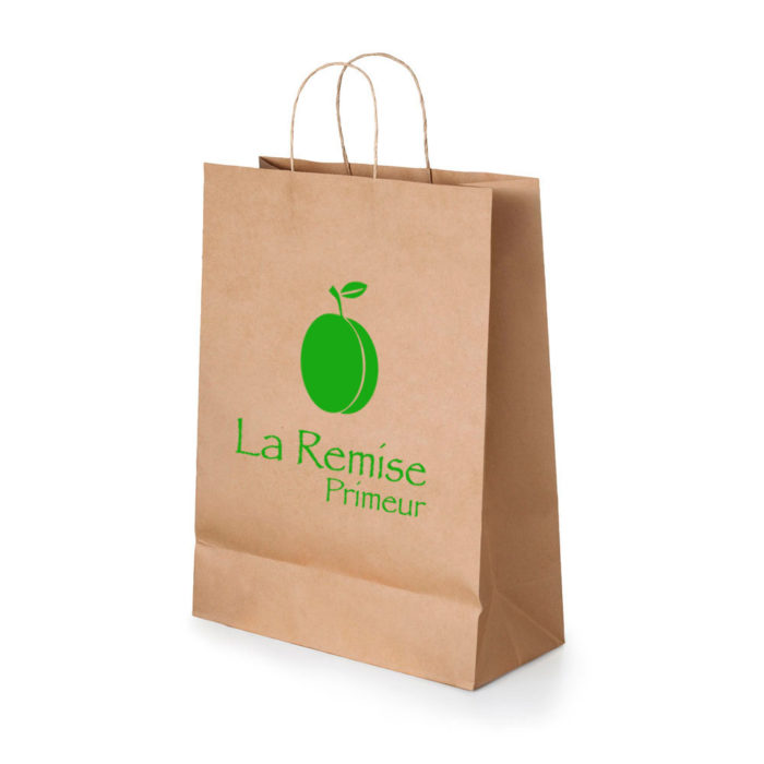 sac en papier cours kraft impression gard
